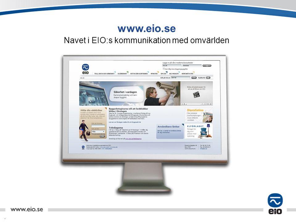 Navet i EIO:s kommunikation med omvärlden