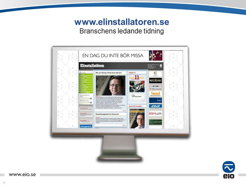 www.elinstallatoren.se Branschens ledande tidning