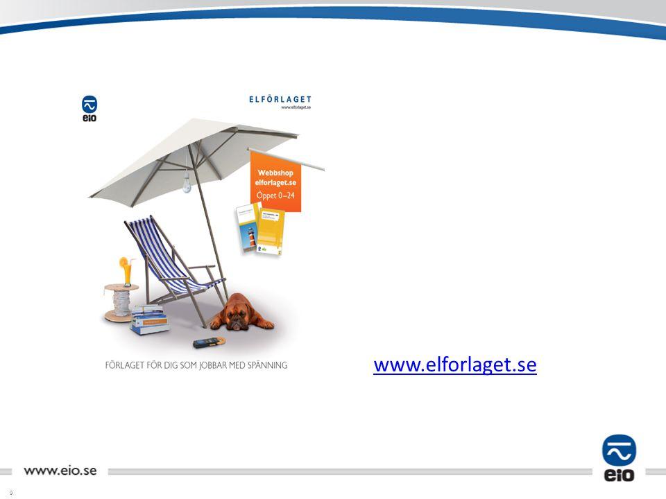 Elförlagets katalog/hemsida visa hur man kommer in via www.eio.se.