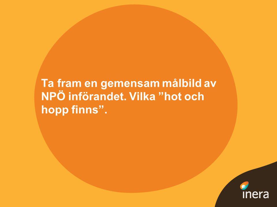Ta fram en gemensam målbild av NPÖ införandet