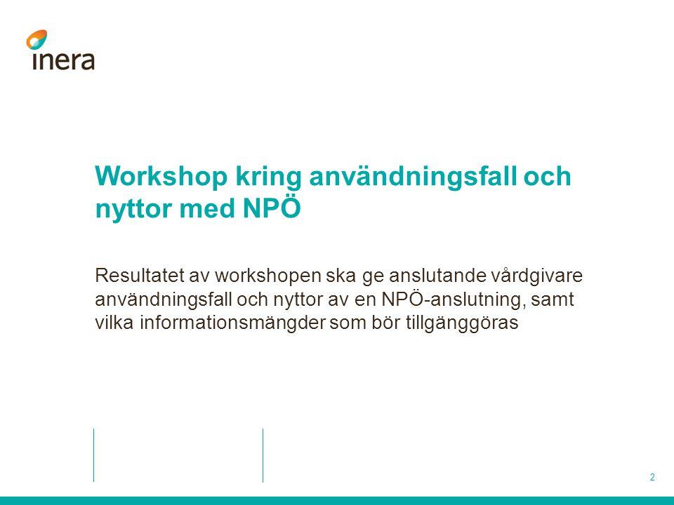 Workshop kring användningsfall och nyttor med NPÖ