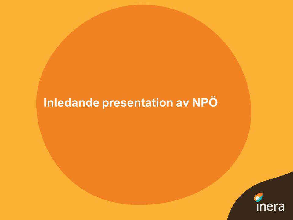 Inledande presentation av NPÖ