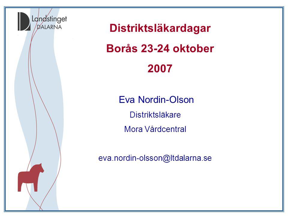 Distriktsläkardagar Borås 23-24 oktober 2007