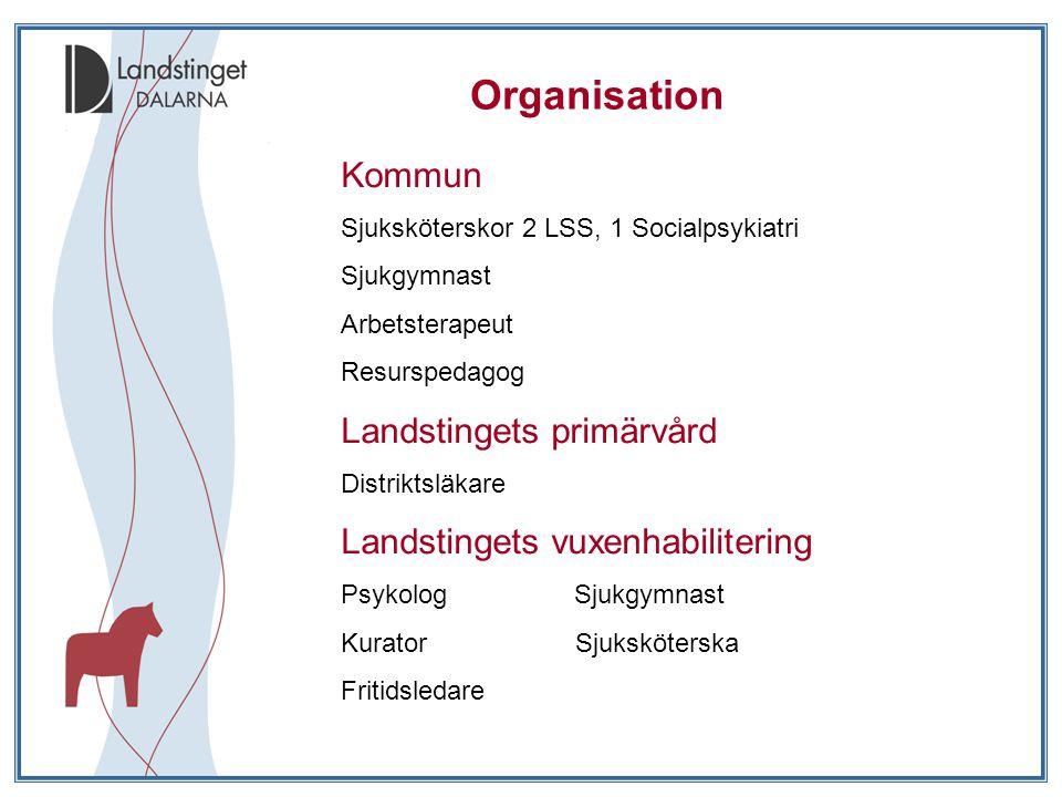 Organisation Kommun Landstingets primärvård