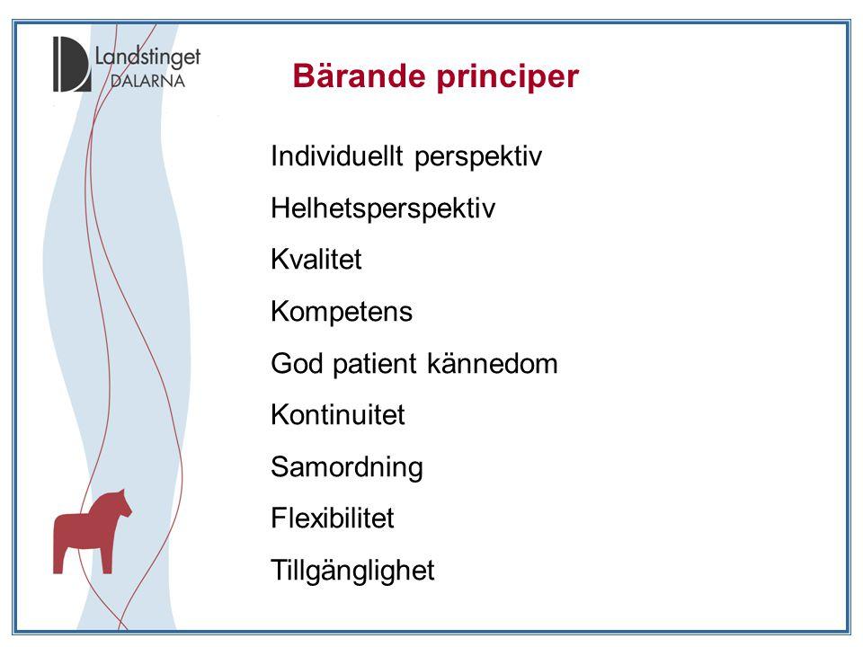 Bärande principer Individuellt perspektiv Helhetsperspektiv Kvalitet
