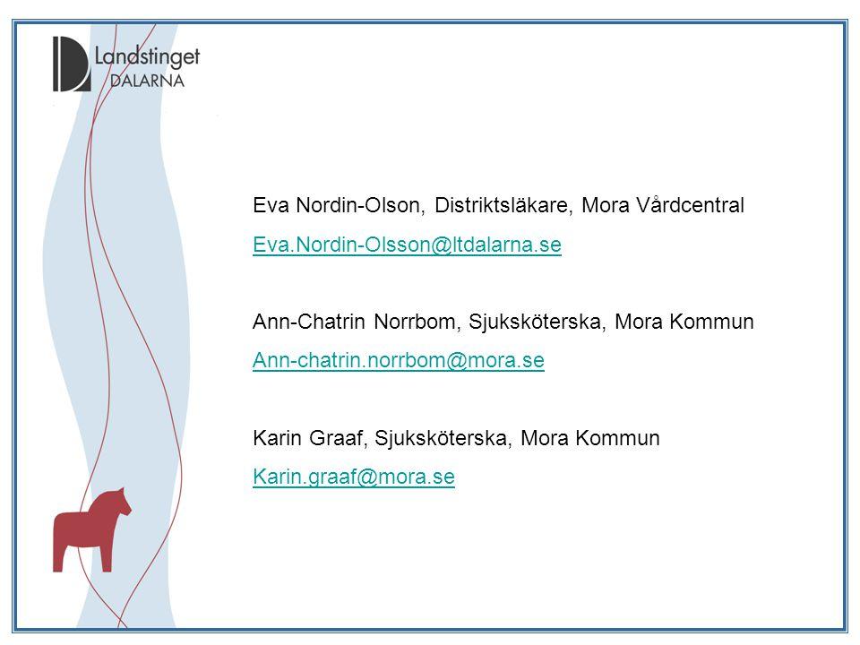 Eva Nordin-Olson, Distriktsläkare, Mora Vårdcentral