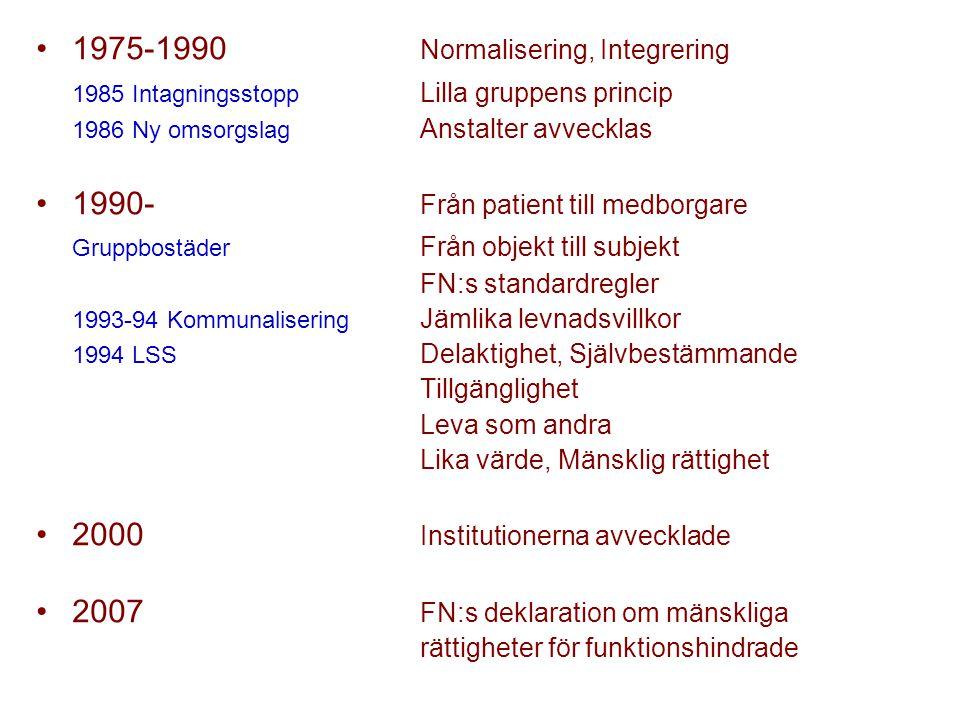 1975-1990 Normalisering, Integrering