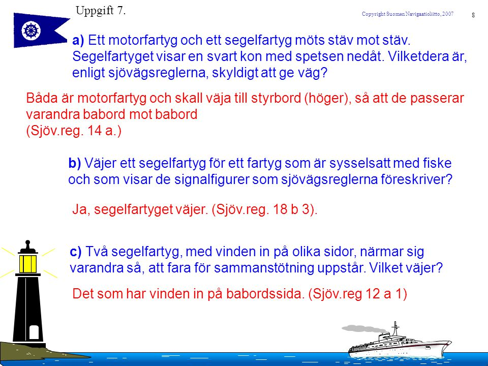 Ja, segelfartyget väjer. (Sjöv.reg. 18 b 3).