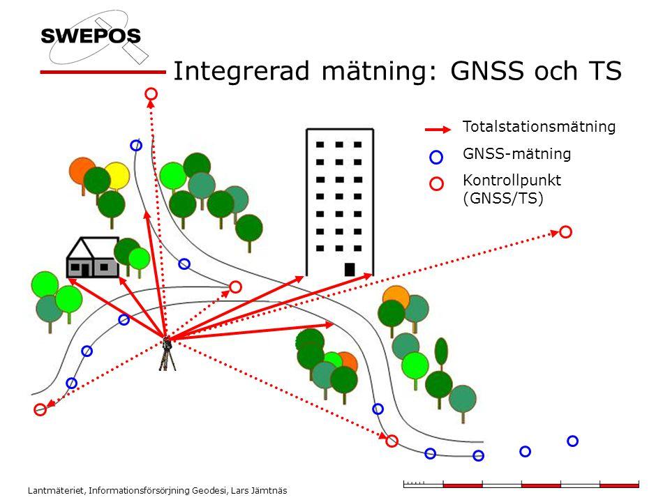Integrerad mätning: GNSS och TS