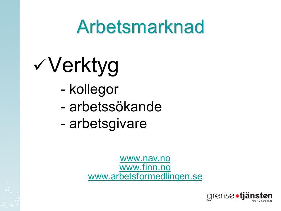 Arbetsmarknad Verktyg - kollegor - arbetssökande - arbetsgivare