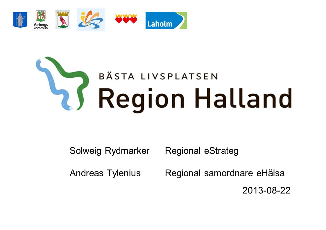 Solweig Rydmarker. Regional eStrateg Andreas Tylenius