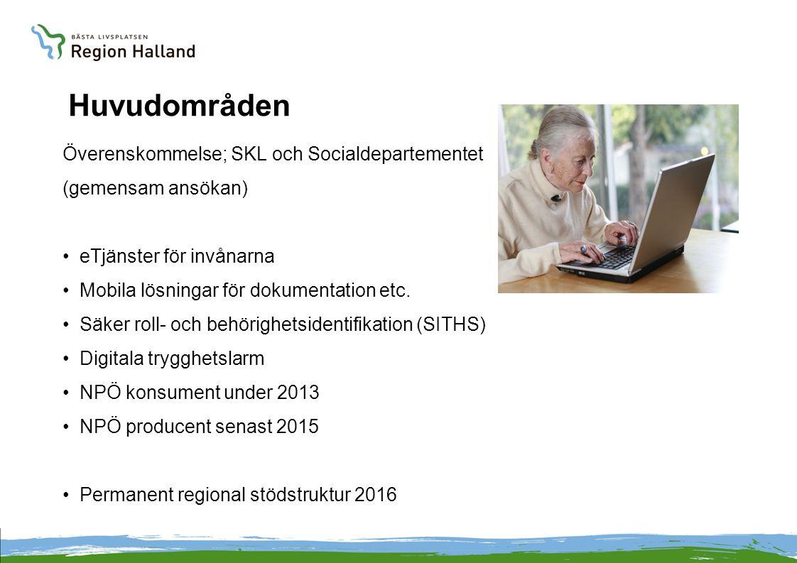Huvudområden Överenskommelse; SKL och Socialdepartementet