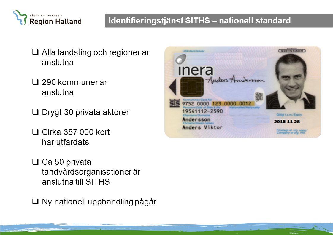 Identifieringstjänst SITHS – nationell standard