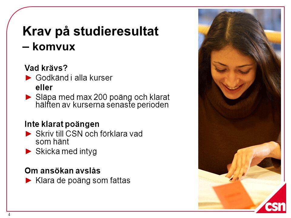 Krav på studieresultat – komvux