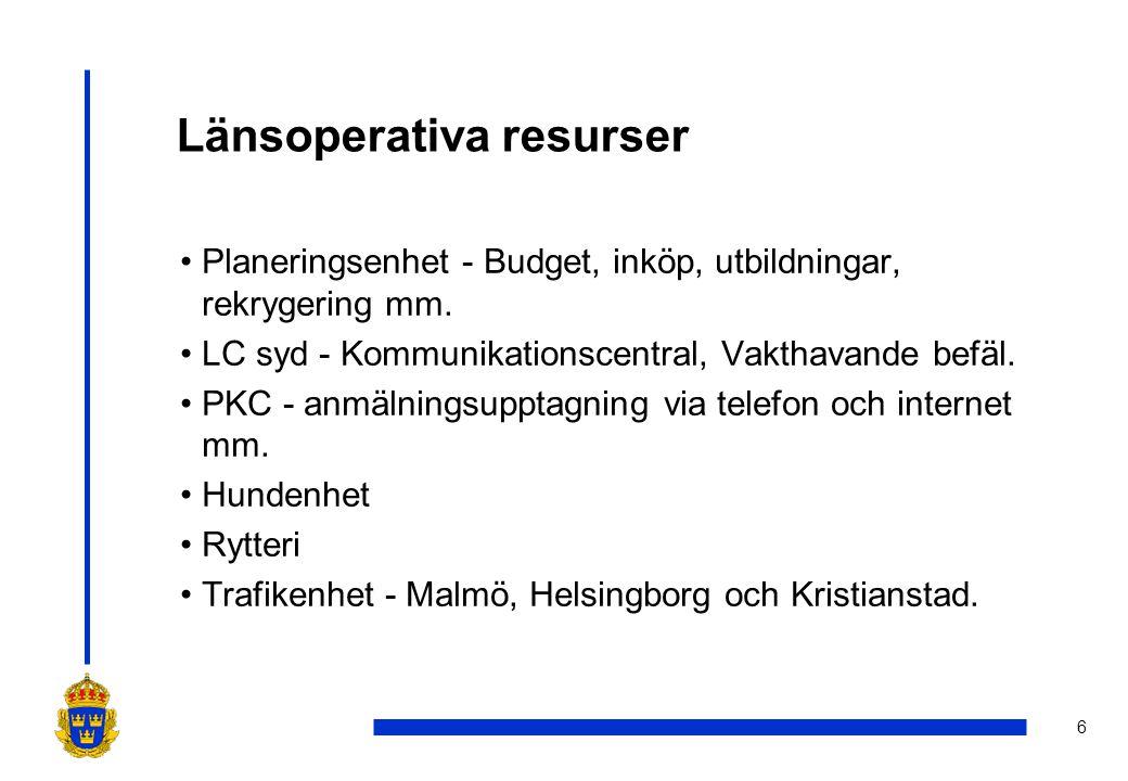 Länsoperativa resurser
