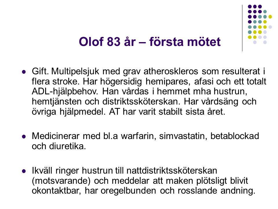 Olof 83 år – första mötet