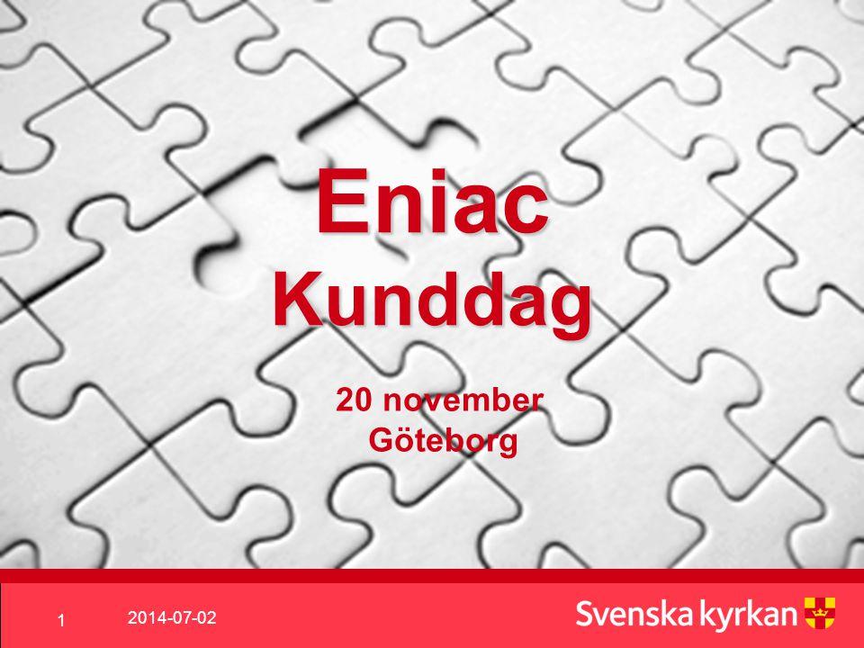 Eniac Kunddag 20 november Göteborg 2017-04-03