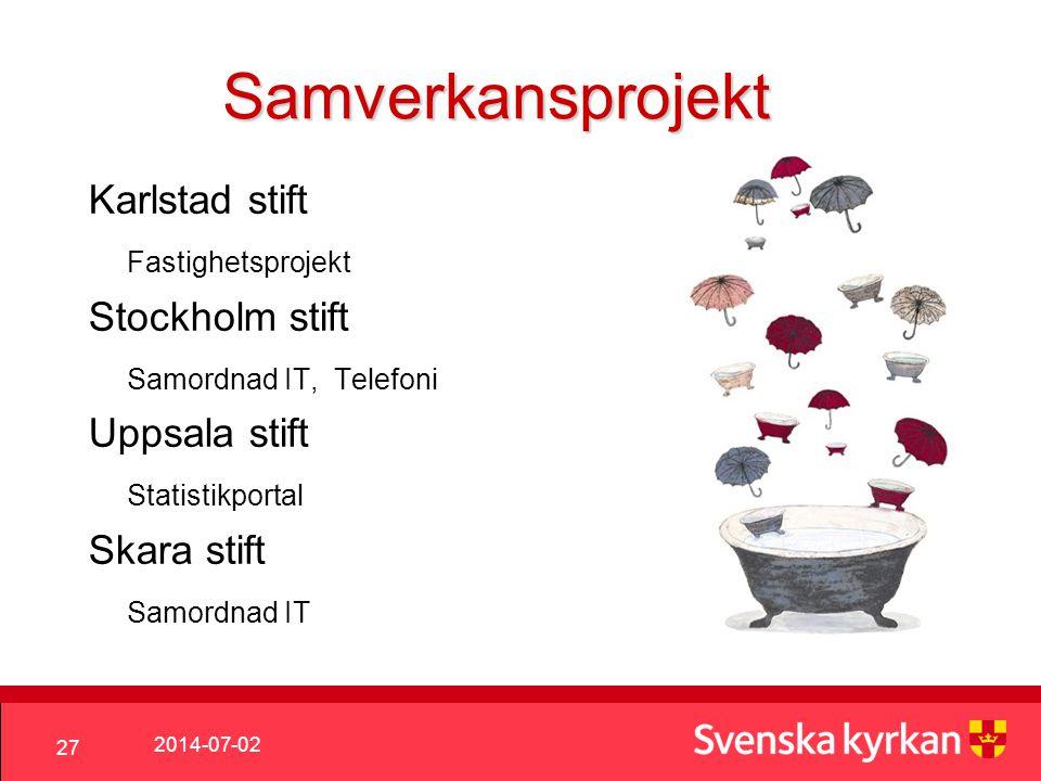 Samverkansprojekt Karlstad stift Fastighetsprojekt Stockholm stift