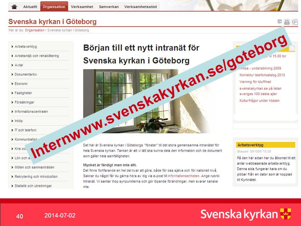 Internwww.svenskakyrkan.se/goteborg 2017-04-03