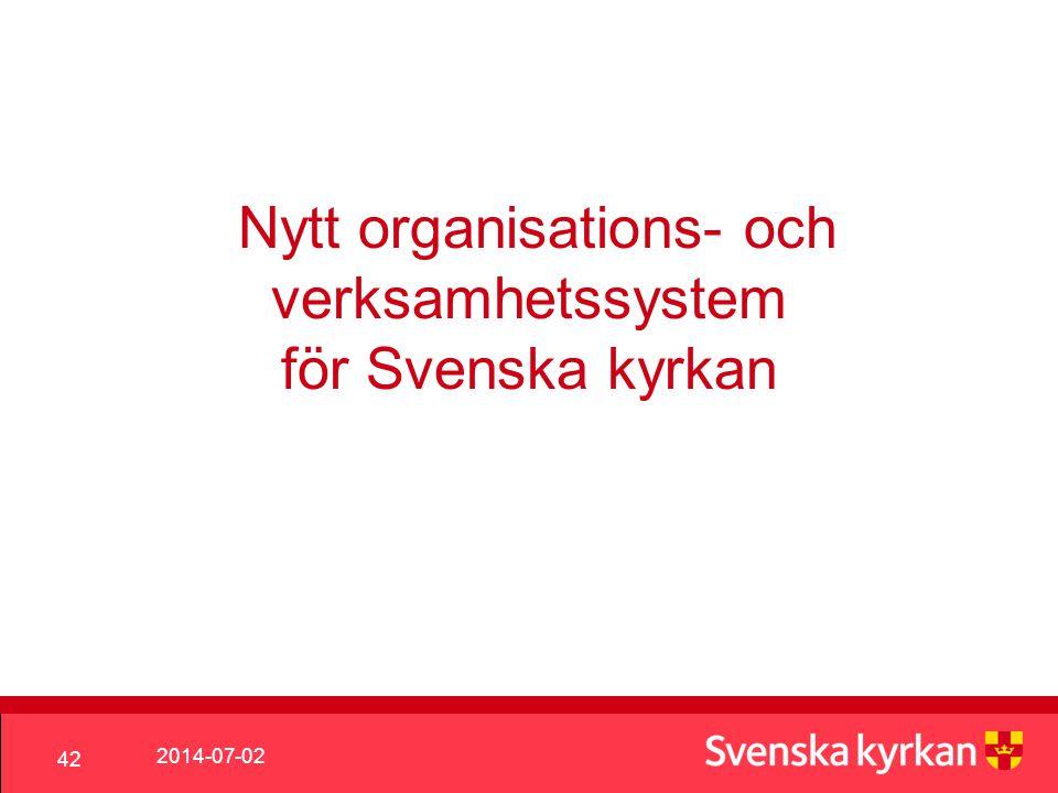 Nytt organisations- och verksamhetssystem för Svenska kyrkan