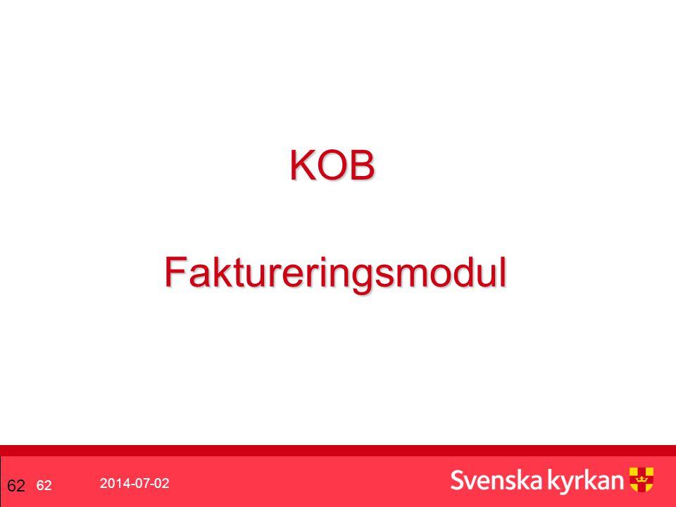 KOB Faktureringsmodul 62 2017-04-03 62