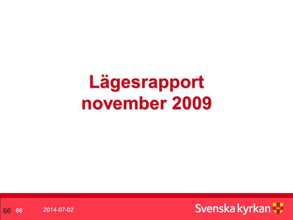 Lägesrapport november 2009
