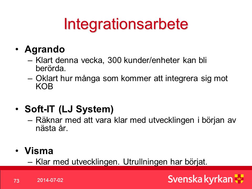 Integrationsarbete Agrando Soft-IT (LJ System) Visma