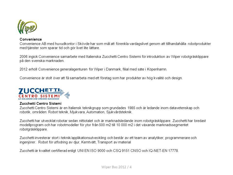 Wiper Bas 2012 / 4 Convenience