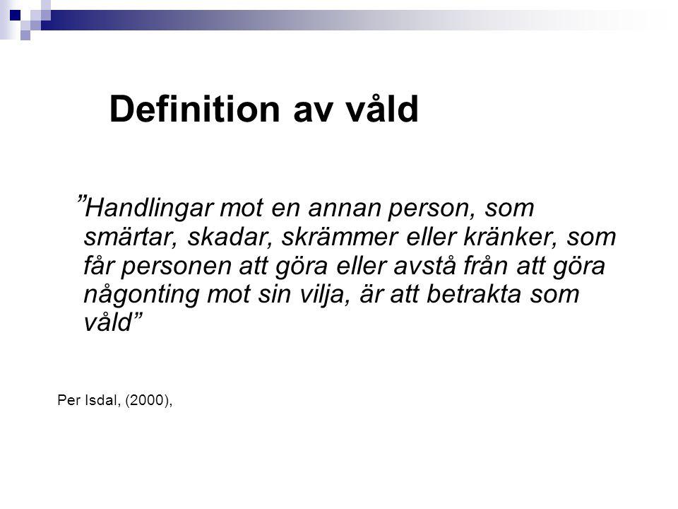 Definition av våld