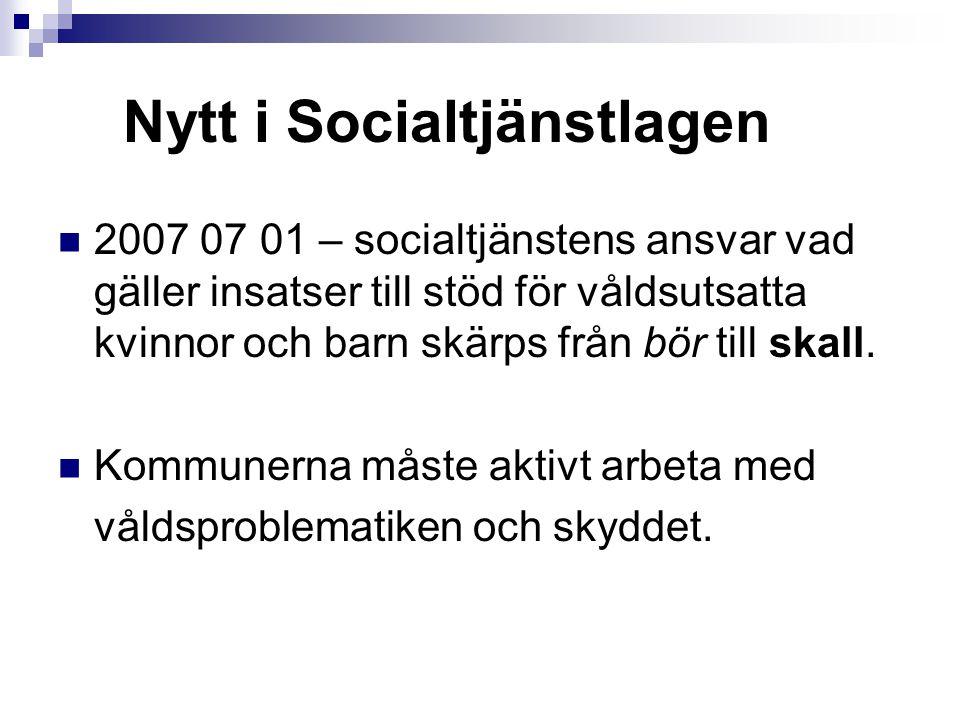 Nytt i Socialtjänstlagen