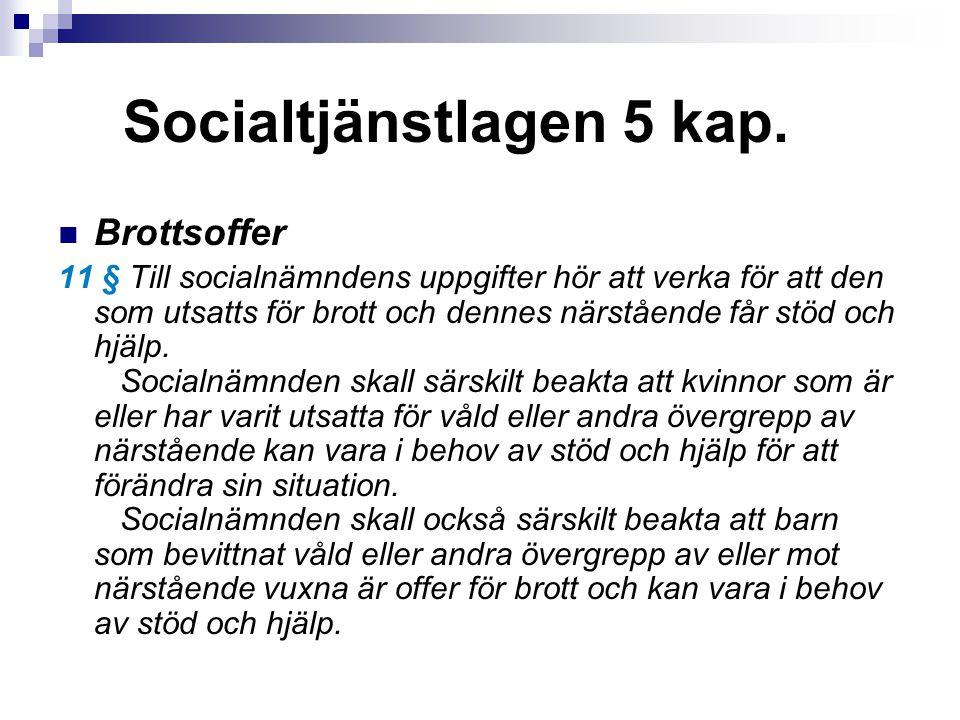 Socialtjänstlagen 5 kap.
