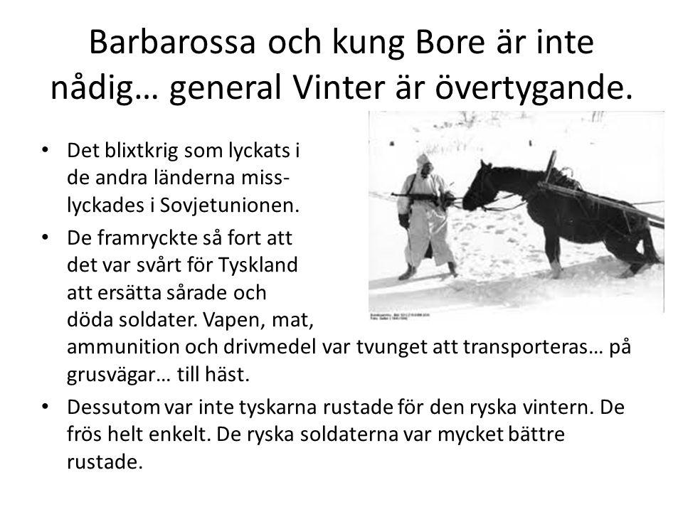 Barbarossa och kung Bore är inte nådig… general Vinter är övertygande.