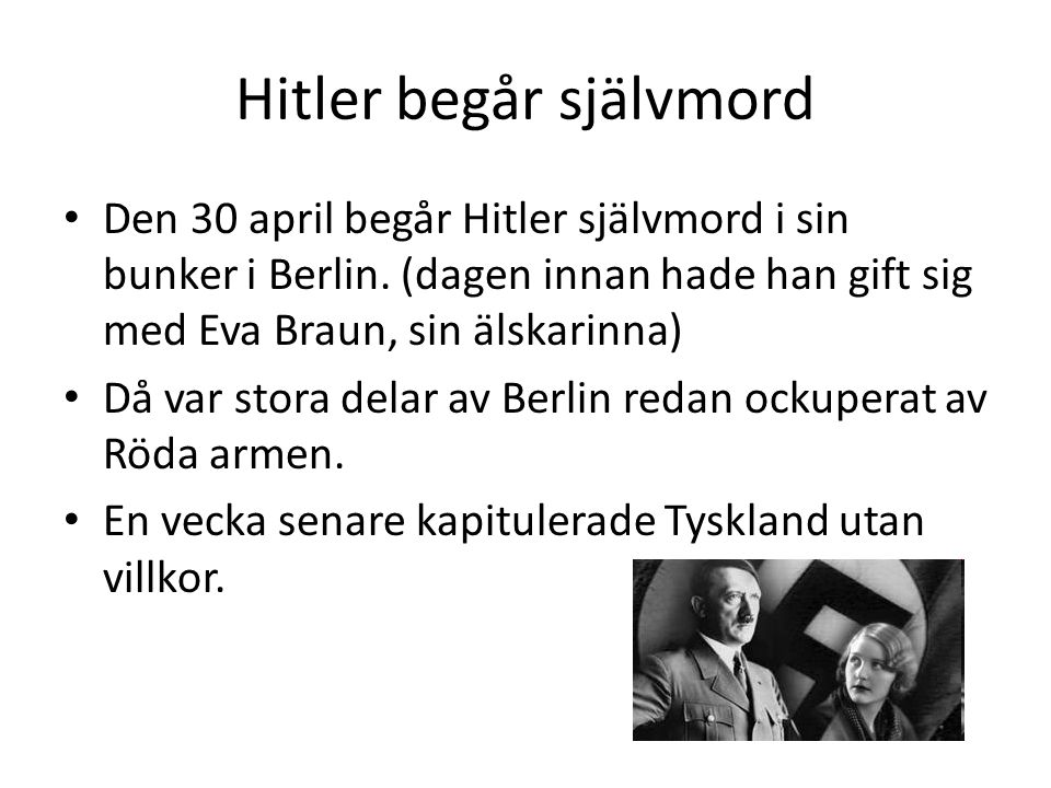 Hitler begår självmord