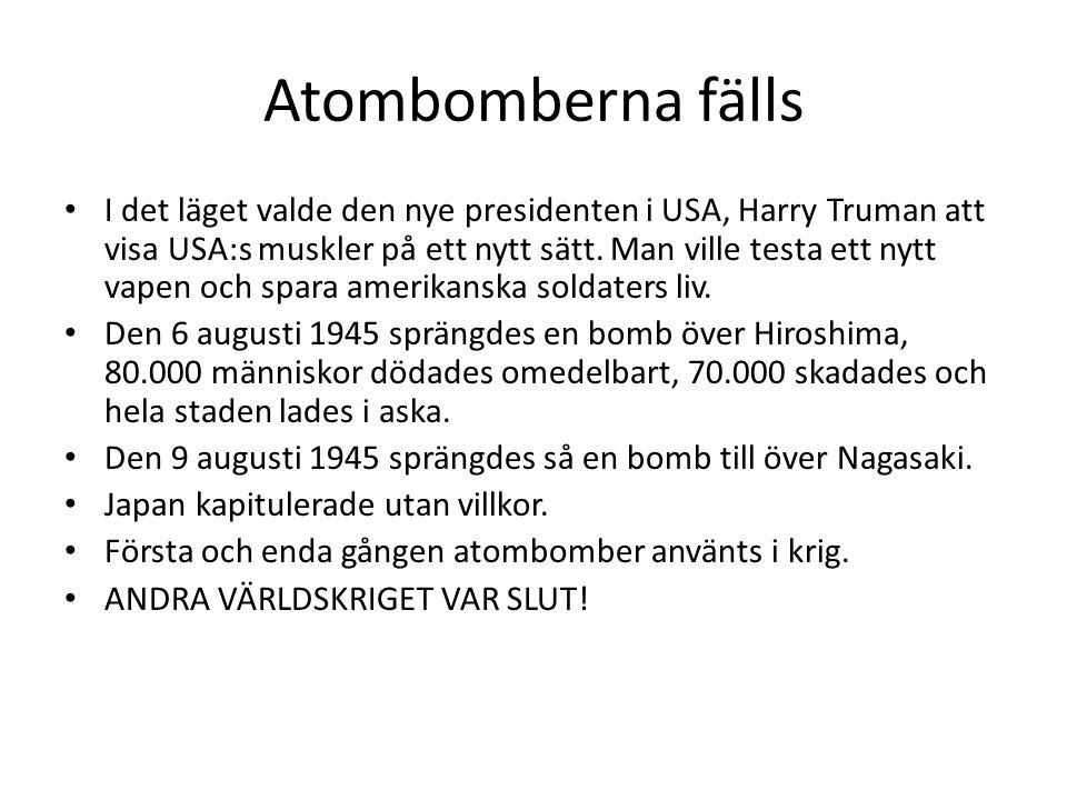 Atombomberna fälls