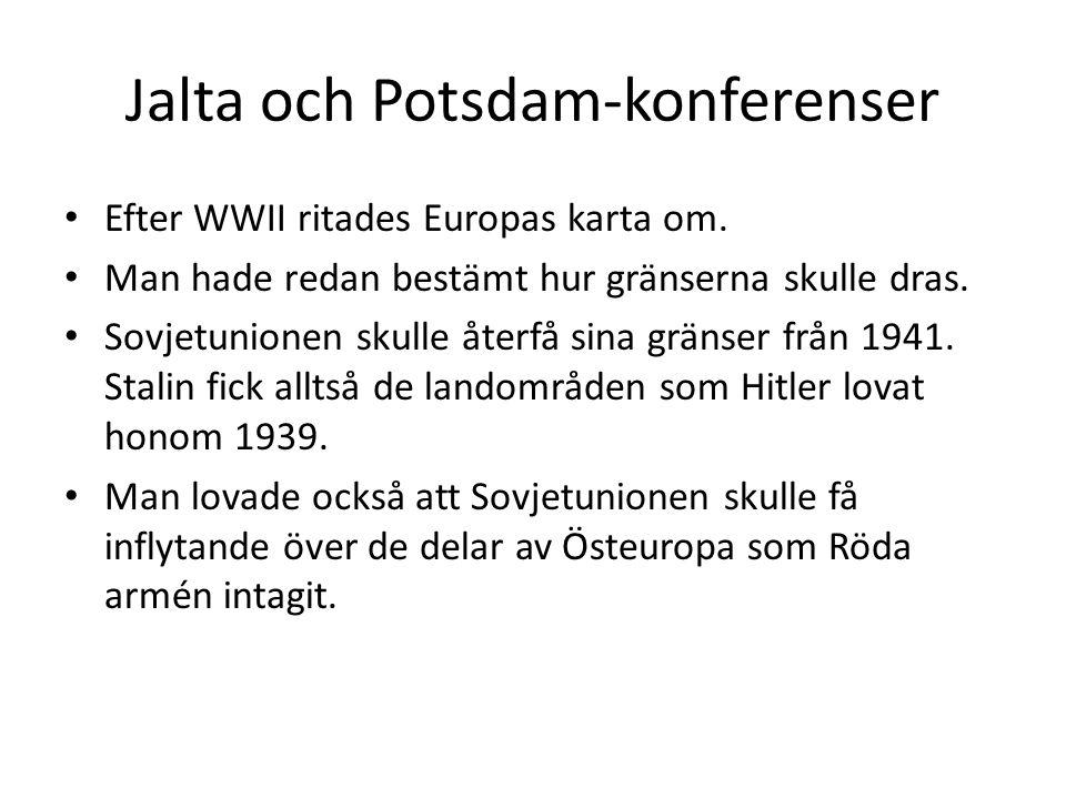 Jalta och Potsdam-konferenser