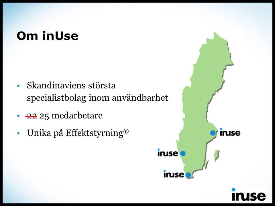 Om inUse Skandinaviens största specialistbolag inom användbarhet