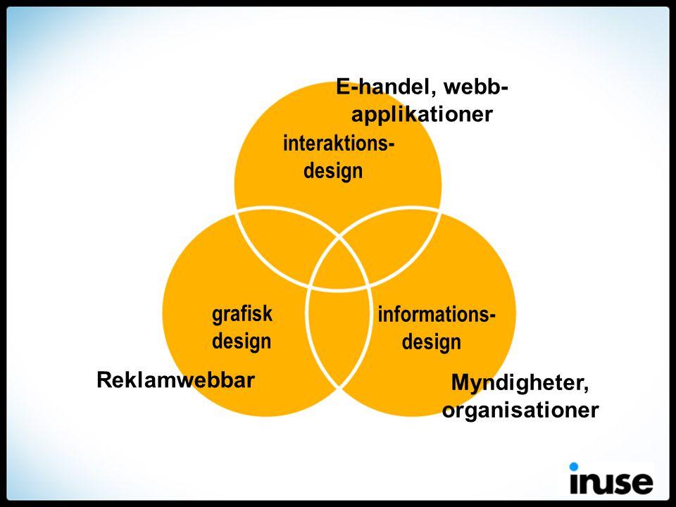 E-handel, webb-applikationer Myndigheter, organisationer
