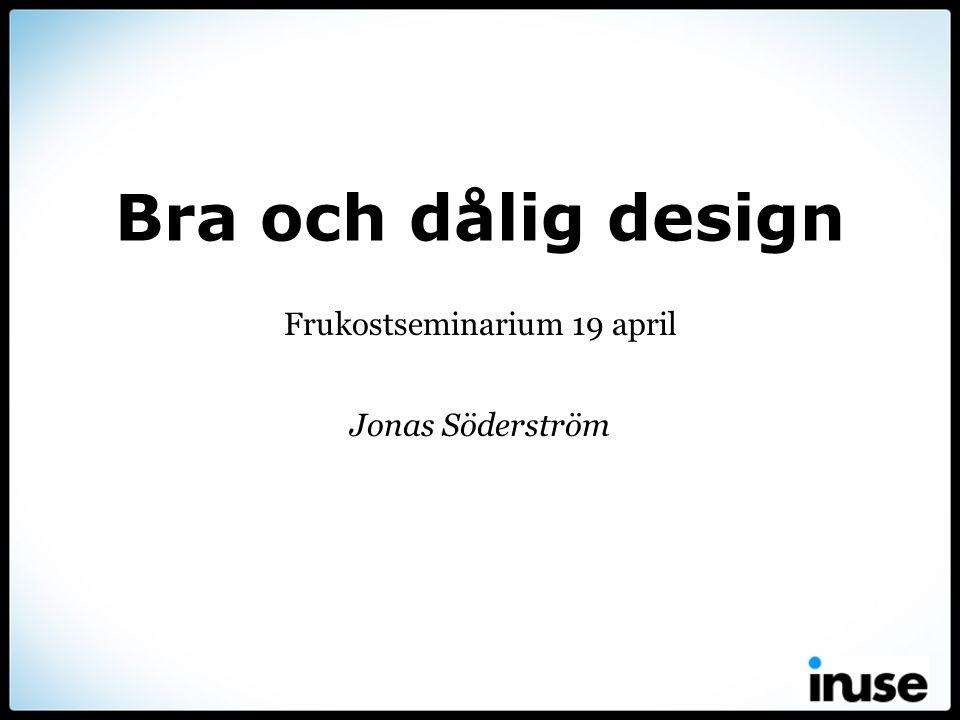 Frukostseminarium 19 april Jonas Söderström