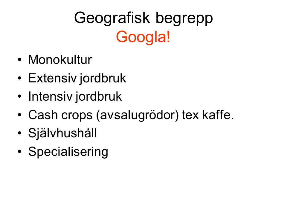 Geografisk begrepp Googla!
