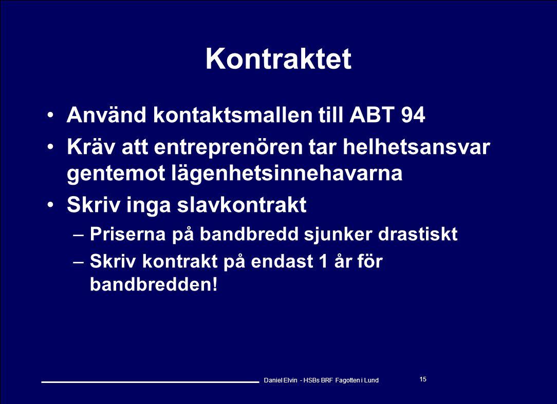 Kontraktet Använd kontaktsmallen till ABT 94