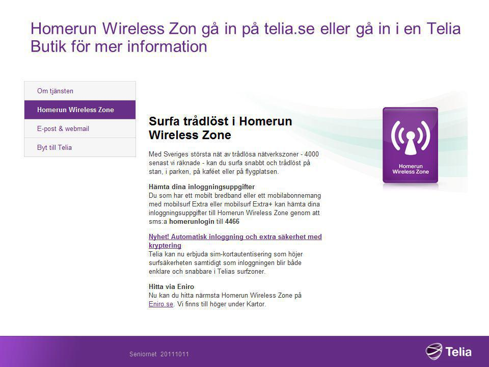 Homerun Wireless Zon gå in på telia
