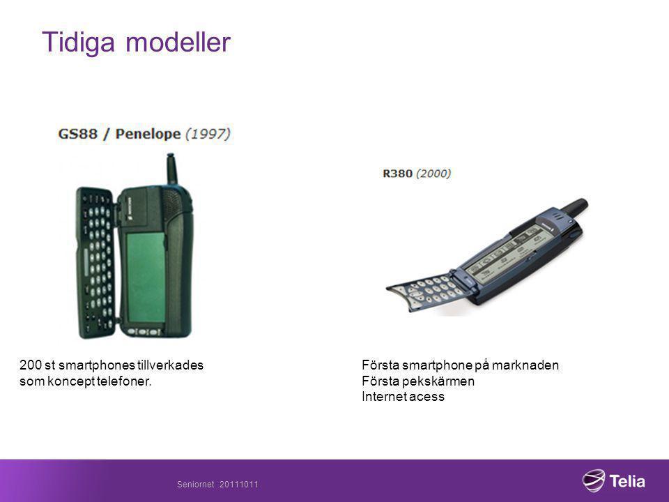 Tidiga modeller 200 st smartphones tillverkades som koncept telefoner.