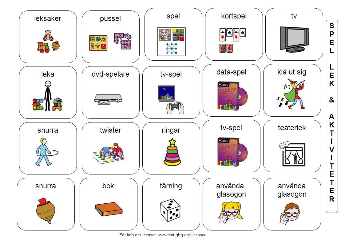 spel kortspel tv leksaker pussel S P E L K & A T I V R data-spel
