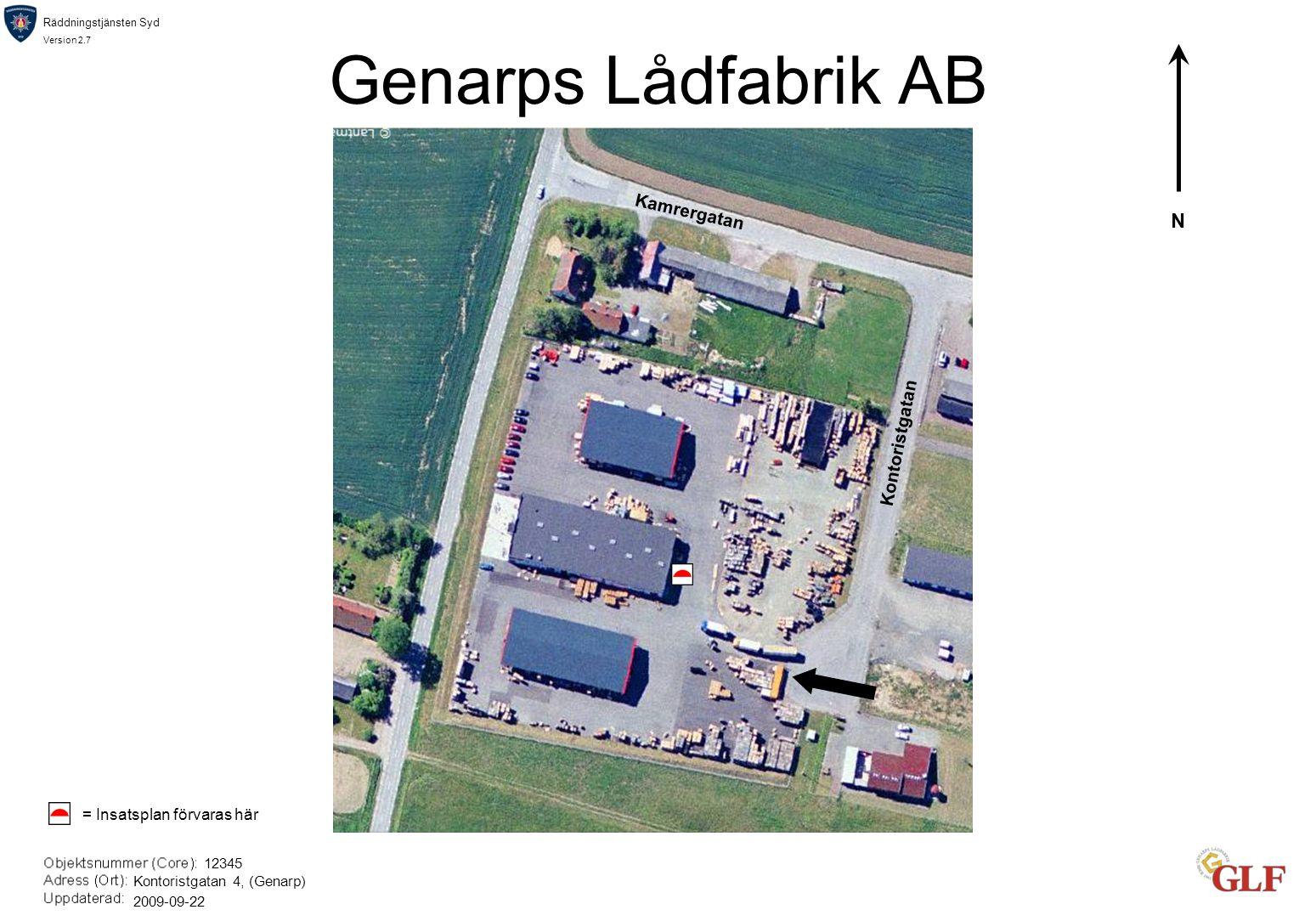 Genarps Lådfabrik AB N Kamrergatan Kontoristgatan