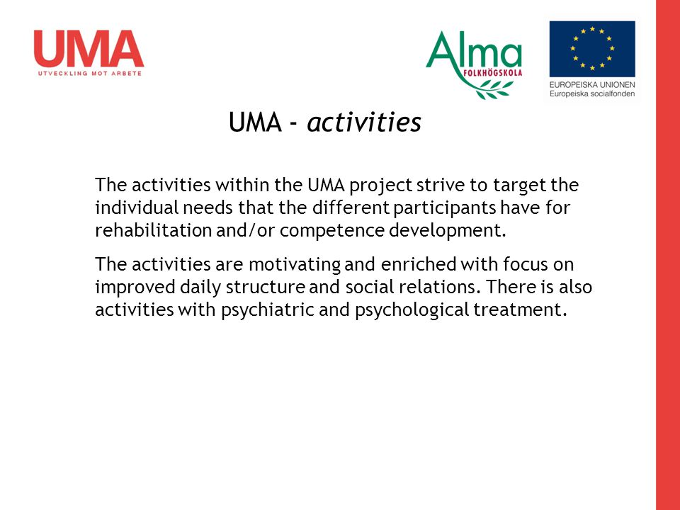 UMA - activities