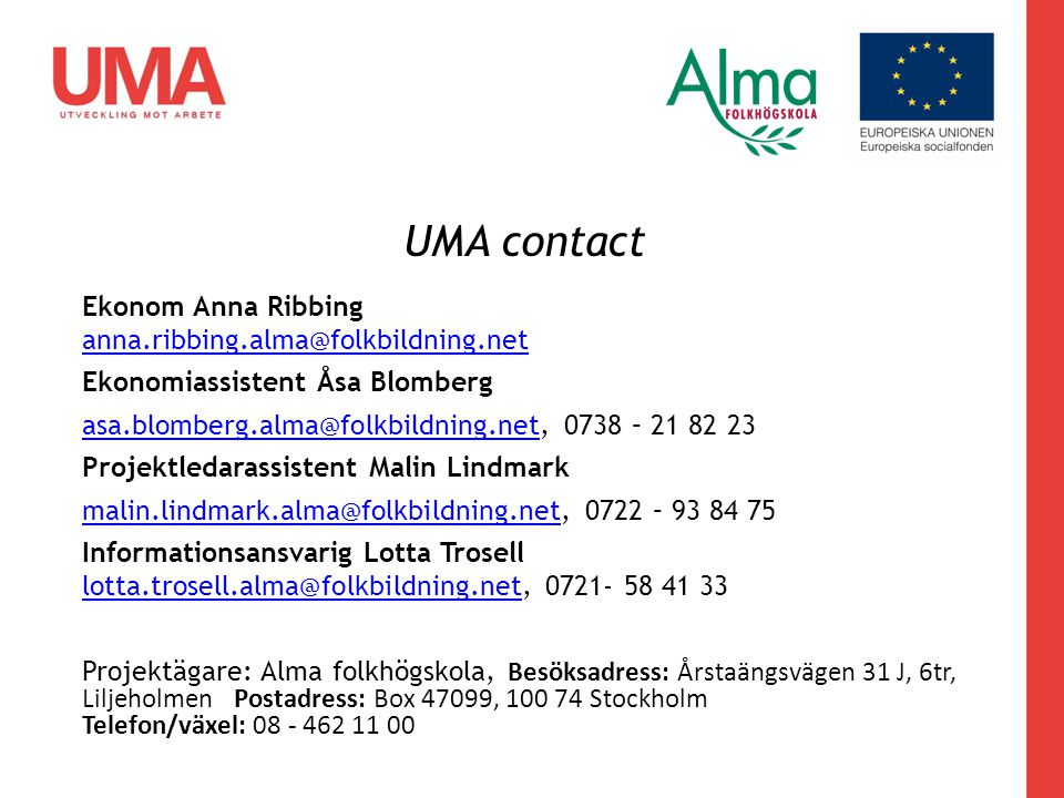 UMA contact