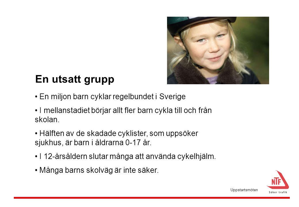 En utsatt grupp En miljon barn cyklar regelbundet i Sverige