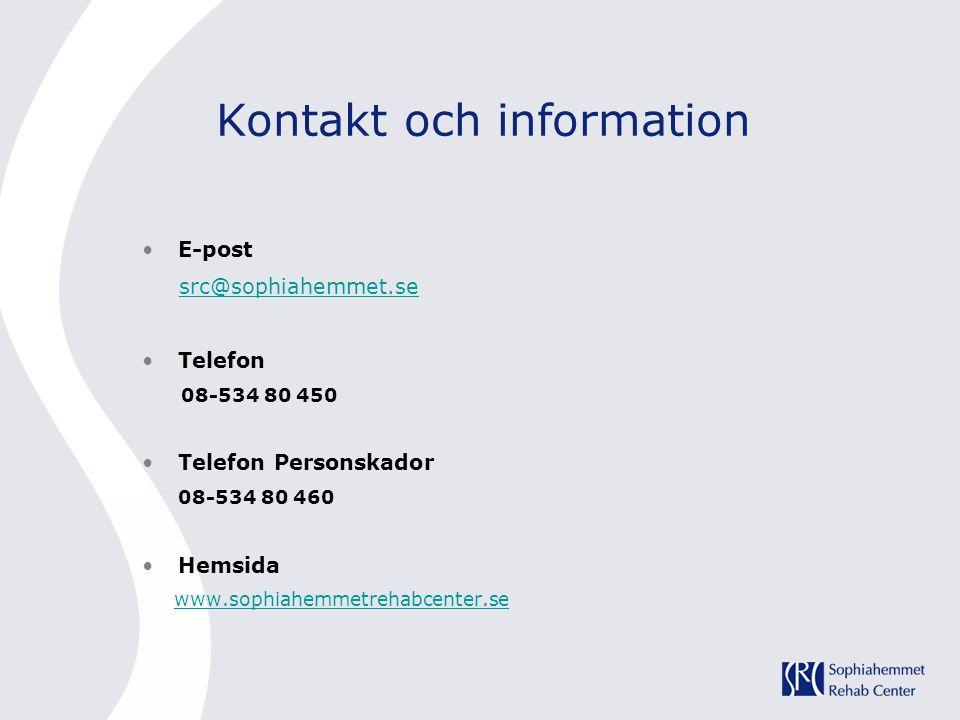 Kontakt och information