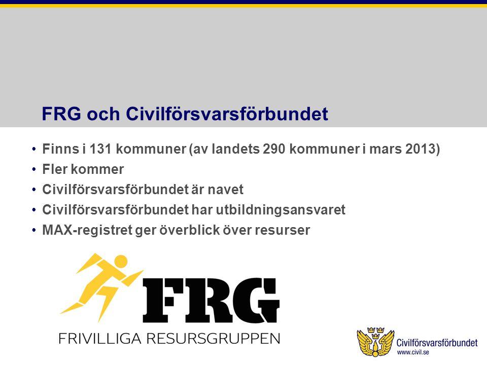 FRG och Civilförsvarsförbundet