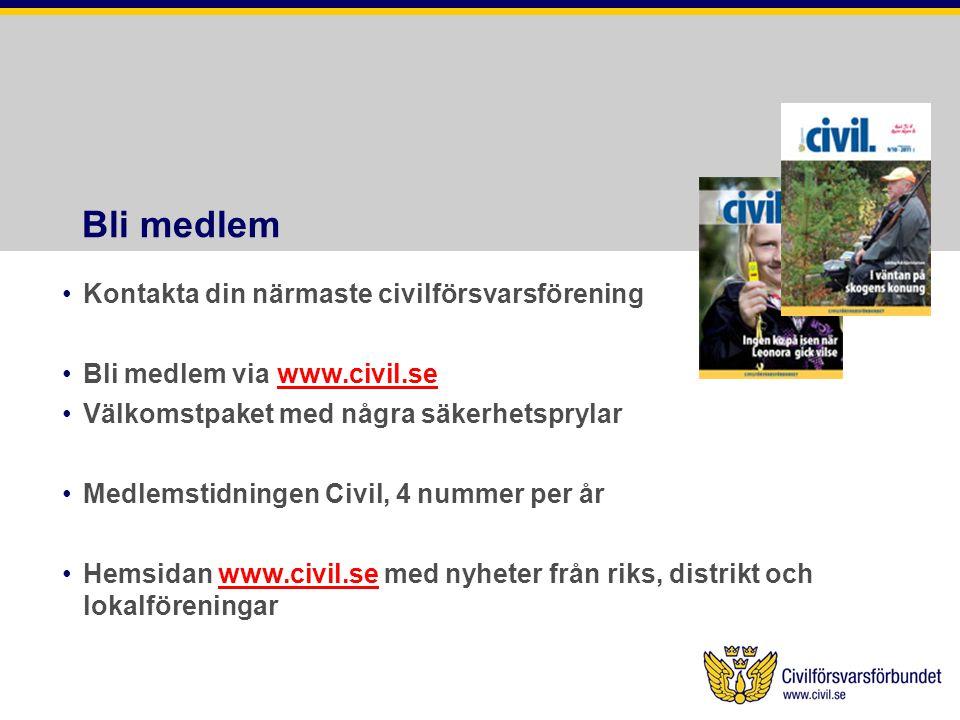 Bli medlem Kontakta din närmaste civilförsvarsförening
